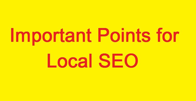 7 Important Points for Local SEO